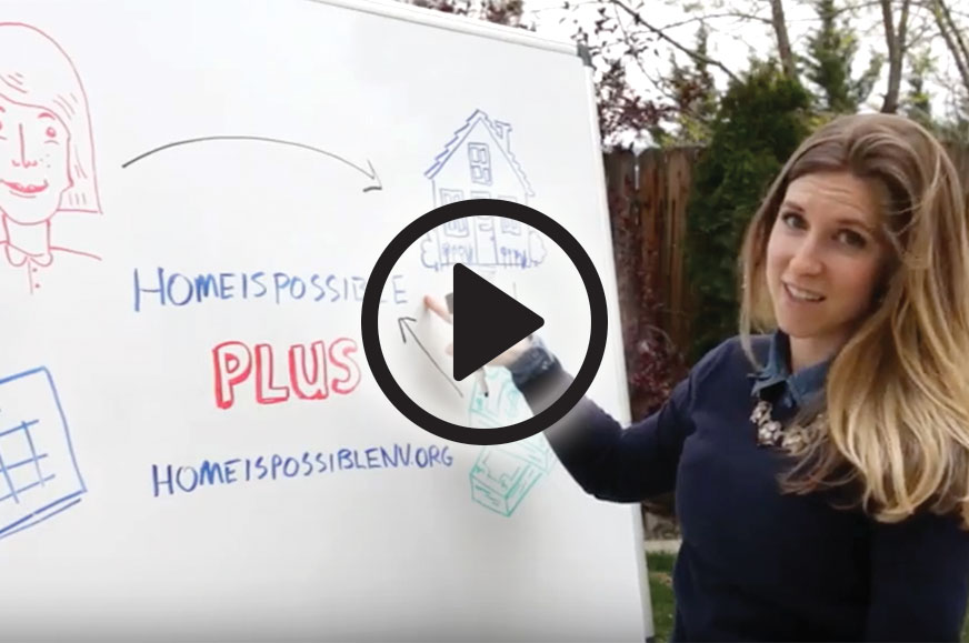 Home is Possible Plus Video Screenshot with girl drawing on whiteboard