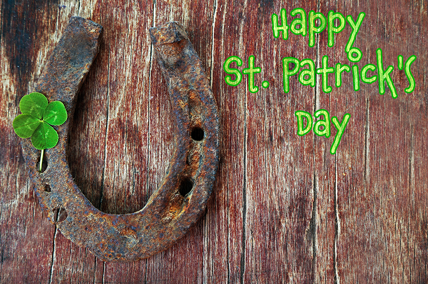 Happy St. Patrick's Day and Horseshoe